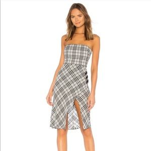 MAJORELLE Kara Midi Dress in Plaid